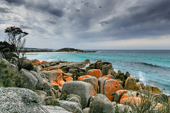 Bay of Fires (Carbonell Icon) Tags: blue red colour weather forest canon landscape photography dramatic explore tasmania 2015 bayoffires inexplore canon5dmiii 5dmiii vscocam