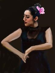Flamenco of Expression (Pat McDonald) Tags: madrid ballet espaa argentina sevilla andaluca spain buenosaires ballerina mediterranean digitalart danse seville bale artrage gibraltar guapa guitarist flamenco dans ballo intensity porteo bsas albaicin bailar gitana portea bailaora castanet andalus bailaoras guapsima lalneadelaconcepcin lunaflamenco mikehurwitz