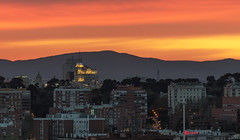 Detail Centre of Madrid - Detalle Centro de Madrid a las 20:55 (infinitum Photography & Video Production) Tags: madrid sunset atardecer twilight nikon tramonto d750 crpuscule ocaso cba coucherdesoleil crepsculo 70200mm telefnica infinitum torremadrid crculodebellasartes 70200f4vr infinitumstudio