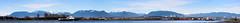 180 of Northern Mountains (A.G. Buron Photography) Tags: blue panorama vancouver clouds bluewater bluesky fraserriver mountians vancouverbc grousemountain thelions richmondbc dammountain thelionsmountains armandburon