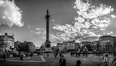 @Trafalgar Square, London, United Kingdom (Syed Ali Warda) Tags: road uk sunset england people blackandwhite panorama holiday building guy london heritage history monument monochrome westminster architecture clouds canon buildings dark landscape outside freedom mono coast landscapes photo interesting europe exposure flickr cityscape view artistic unitedkingdom outdoor vibrant picture culture cityscapes dramatic highcontrast architectural excellent historical exposed darkclouds attraction exciting panaroma houseofparliament panaromic eastlondon vibrance observing wideangel historicalplace cityofwestminster greatphotographers heritagesite londoncentral westminstercity flickrbest flickraward ithinkthisisart giantbuilding canon7d syedaliwarda