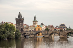 Charles Bridge (Erik Strahm) Tags: bridge tower architecture river prague gothic charles czechrepublic cz charlesbridge hlavnmstopraha europe2015