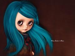 Chocolat (pure_embers) Tags: uk brown alpaca girl hair doll dolls teal blythe neo custom pure takara briar chocolat embers reroot sammydoe tanbriarembers