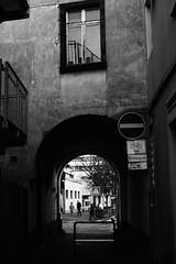 Window above the underpass (stefankamert) Tags: street people blackandwhite bw window underpass blackwhite noir cross noiretblanc offenburg sw schwarzweis a5100 sel35f18 e35mmf18oss alpha5100 stefankamert