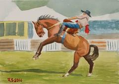 DSCF7273_low (RafaelSan) Tags: horse watercolor criollo caballo acuarela gaucho