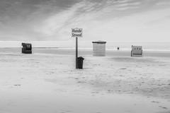 Hundestrand (BW) (Bluespete) Tags: bw beach strand germany island deutschland nikon insel northsea ostfriesland sw psi schwarzweiss nordsee strandkorb kste borkum norddeutschland niedersachsen hundestrand ostfriesischeinseln d7100 weitefeld petersieling 6322425 32143153 bluespete