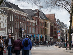 Brugstraat Groningen (Jeroen Hillenga) Tags: street city netherlands cityscape gevels nederland groningen stad streetwise straat brugstraat gevelwand