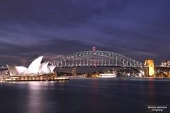 Sydney Harbour Bridge and the Opera House (Anura in Canberra) Tags: bridge night sydney australia operahouse sydneyharbouerbridge