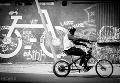 Easy Rider (gheckels) Tags: street cruise bw streetart black monochrome bike bicycle blackwhite noir ride lisboa lisbon candid wheels streetphotography easyrider streetshot carlzeiss sonyimages sonya7rii