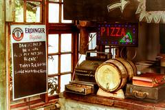 Beer, Wine and Pizza... (Daniela 59) Tags: beer southafrica restaurant junk pizza clutter westerncape erdingerweissbier imeimer sliderssunday danielaruppel