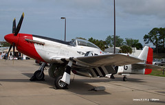 160329_05_P51 (AgentADQ) Tags: plane airplane fighter force florida aviation air north american leesburg mustang redtail commemorative p51d