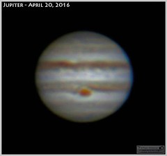 Jupiter and Great Red Spot (LeisurelyScientist.com) Tags: sky clouds canon space science bands astrophotography planet astronomy jupiter solarsystem celestron meade astronomer grs greatredspot cgem canon6d tomwildoner leisurelyscientist leisurelyscientistcom