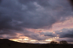 DSC_9751 [ps] - Light Scar (Anyhoo) Tags: uk travel sky blur travelling birds clouds strand dark scotland flying geese dusk stirling motionblur benlomond skein m9 viewfromthecar anyhoo straggle photobyanyhoo