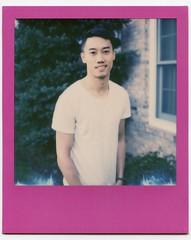 Colored frame selfie 1 (jonnykam) Tags: gay portrait cute male film asian polaroid daylight chinese gayboy instant asianamerican gaypride slr680 selfie px70 coloredframes