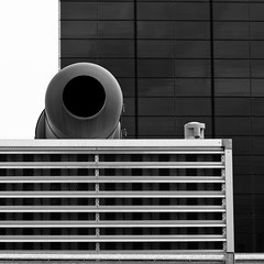 Exhaust B&W (sandroraffini) Tags: new urban bw abstract lines architecture industrial ominous details curves pipes reality machines minimalism grids exhaust wasteland psicogeografia topograohics