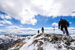 climbing (Fabio Ghelfi) Tags: friends wild sky snow nature canon rocks wind sigma adventure toscana topoftheworld appennino abetone 100d