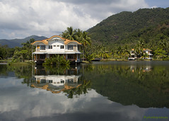 Tranquility (HappySnapper_1) Tags: reflection green water houseboat jungle kohchang
