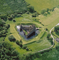 Caerlaverock Castle, Dumfries and Galloway 1972 (RCAHMS) Tags: castle landscape scotland aerial hes 1972 aerialphotograph dumfriesandgalloway caerlaverockcastle rcahms johndewar historicenvironmentscotland sc1156760