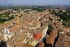 Roofs of Siena from Torre del Mangia (Gregor  Samsa) Tags: city trip houses roof summer italy holiday tower del town italia torre view august roofs journey tuscany vista siena toscana overlook exploration viewpoint settlement mangia watchtower torredelmangia