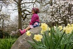 Milina ... (Kindergartenkinder) Tags: park essen dolls outdoor sony pflanze feld wiese blumen blume landschaft garten baum annette personen narzissen osterglocken magnolie milina gruga himstedt kindergartenkinder