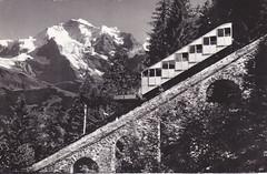 Ansichtkaart Lauterbrunnen Mrren Bahn mit Jungfrau (dickjan thuis) Tags: mit lauterbrunnen bahn jungfrau ansichtkaart mrren