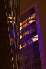 THEWATCHER (_rebelrouser_) Tags: nightphotography windows reflection lamp wisconsin architecture purple nightshot nightime milwaukee