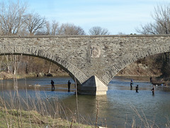 Humber River Bridge (Klara~) Tags: toronto river fishermen humber