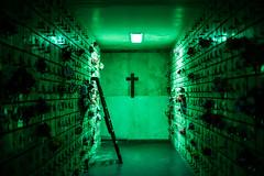 -|- (Alan Chac) Tags: light cemetery night glow cross