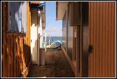 L'Herbe  : Village ostricole (Les photos de LN) Tags: ruelle bateau plage cabane bassindarcachon pcheurs lherbe impasse villageostricole