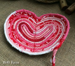 "Let's see how many of our Valentine's Day Heart Shaped Baskets I can stitch together and send on their way to the post office today. With any luck, I will be able to add a few more to our Etsy Shop for all of you who are hoping to get one. Stay tuned!  #1 • <a style=""font-size:0.8em;"" href=""http://www.flickr.com/photos/54958436@N05/23937365370/"" target=""_blank"">View on Flickr</a>"