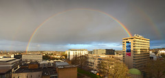 Rainbow Panorama (jamiegaquinn) Tags: city panorama rainbow university plymouth plymouthuniversity