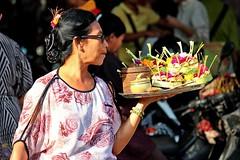 The Offerings Seller (DaveFlker) Tags: bali market ubud offerings