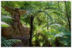 Guardian Angel (damien_bosworth) Tags: sculpture green statue forest carve