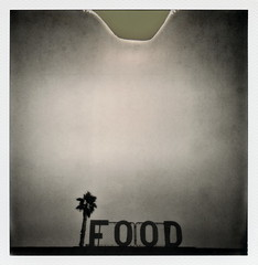 FOOD (tobysx70) Tags: california ca toby 2 bw food white black tree film beach sign project print photography for restaurant lab mini malibu palm zuma tip cameras 600 type and instant 20 hancock divot generation impossible the gen2 ipad impossaroid