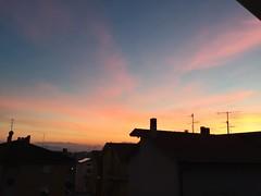 (ccialu) Tags: sunset sky italy love colors photo twilight italia tramonto no filter enjoy amore marche nofilter iphone crepuscolo paese senza monteurano filistei iphone6 instagram iphonesia