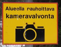 Valvominen rauhoittaa. (neppanen) Tags: suomi finland video helsinki calming security kyltti valvontakamera jollas discounterintelligence kameravalvonta valvonta sampen rauhoittava helsinginkilometritehdas jollasinstituutti nauhoittava