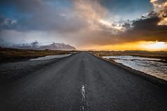 Road to the sun, Iceland (Simon van Ooijen) Tags: road sun holiday snow mountains water beautiful sunrise landscape island iceland reykjavik vista jokulsarlon 2016 2015 ijsland ooijen islanski