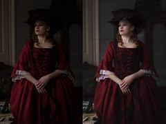 (martina.spoljaric1989) Tags: portrait woman girl antique before after gown rococo