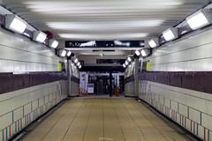 Clapham Junction Station Hallway (LFaurePhotos) Tags: england urban london night subway indoor eerie hallway tiles trainstation battersea deserted emptiness claphamjunction southwestlondon londonatnight