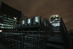 Within Touching Distance - Almost (jessnphoto) Tags: uk england london rooftop night canon nightlights view rooftops unitedkingdom capital landmarks landmark nighttime viewpoint highup walkietalkie uphigh lloydsoflondon capitalcity