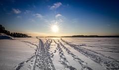 Let there be light (Mika Laitinen) Tags: ocean blue light sea sun white snow ice nature clouds suomi finland helsinki shine horizon halo vuosaari uutela canon7d tokina1116 uuusimaa