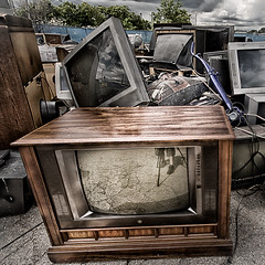tv party tonight (rosserx) Tags: old television tv junk scrap
