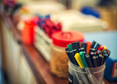 HBW! (w.mekwi photography [here & there]) Tags: closeup dof desk bokeh colourful pens hbw bokehwednesday nikond800 wmekwiphotography