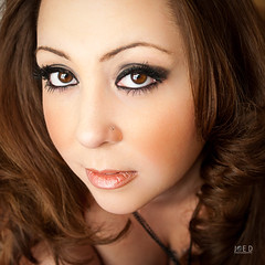 Valentine Beauty (Joe D. Photography) Tags: beautiful beauty closeup model makeup mexican clevage femalemodel hispanic brunette sigma1750 canon40d