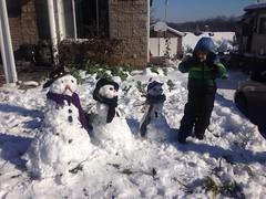 So many snowmen (bobmendo) Tags: winter snow nose toddler nashville snowmen carrot trio threewisemen combination triad threewisesnowmen