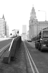 a study in concentration (Towner Images) Tags: city urban blackandwhite bw monochrome liverpool truck newquay monotone monochromatic lorry daf liverbuilding towner bathstreet townerimages