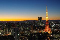 The Tokyo (703) Tags: building japan night skyscraper buildings tokyo twilight cityscape nightscape dusk worldtradecenter  tokyotower metropolis  wtc nightscene nightview bluehour roppongihills   magichour  worldtradecentre   sigma1770mm  seasidetop pentaxk5