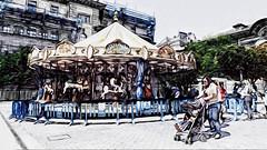 El tiovivo (jlmaral) Tags: verano cochecito tiovivo atraccion