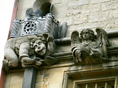 Oxford, gargoyle (rossendale2016) Tags: carved university gargoyle oxford drainpipe lead downspout moulded metalmoulded