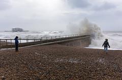 Storm Imogen (Laurence Cartwright) Tags: uk sea england beach sussex photo brighton waves hove westpier groyne laurencecartwright